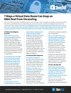 Seven Ways a Virtual Data Room Can Keep an M&A Deal From Unraveling