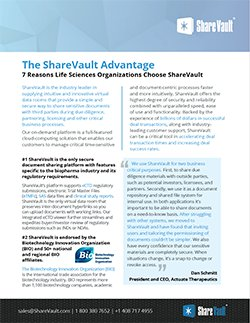 Seven Reasons Life Sciences Organizations Choose ShareVault