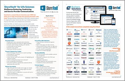 ShareVault Life Sciences Brochure